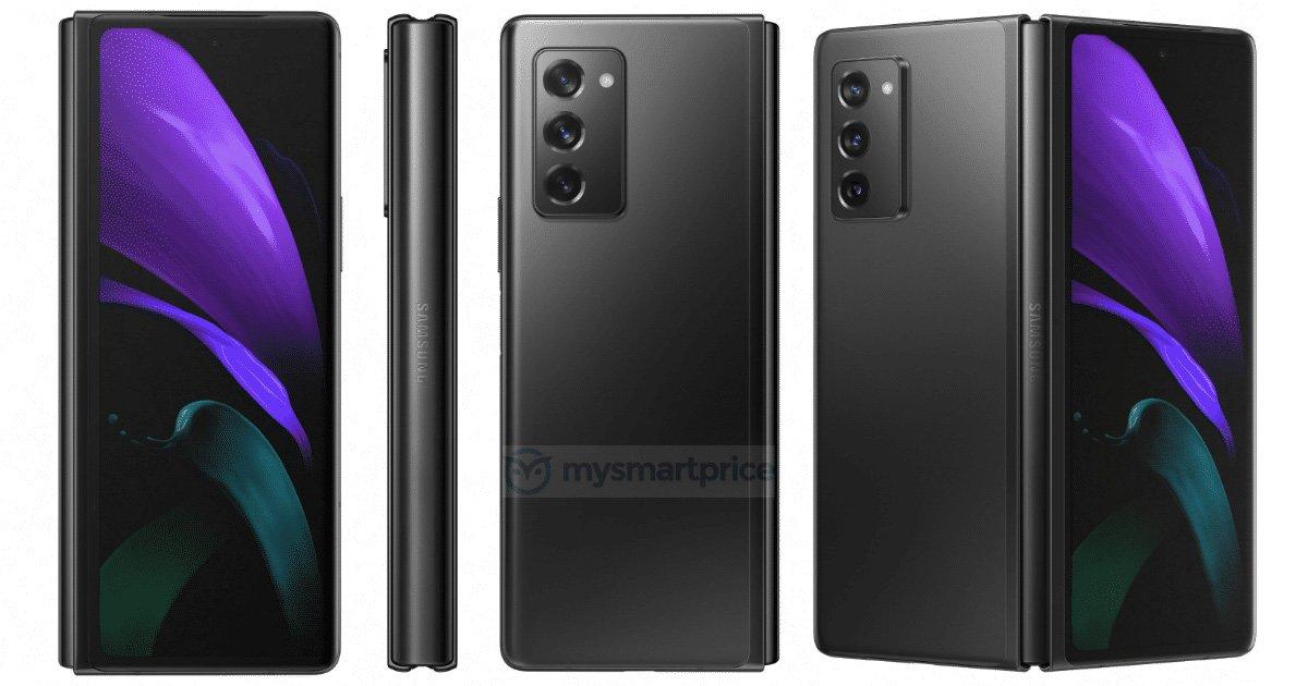 Galaxy Z Fold 2 màu đen xám.