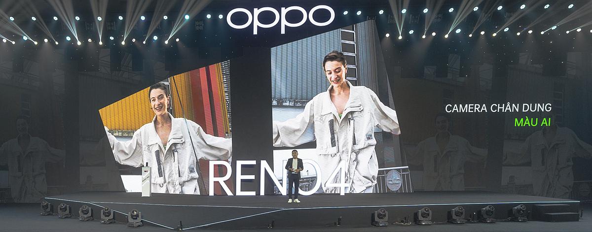 Chế độ chân dung màu AI (AI Color Portrait) tạo khác biệt cho bộ đôi Reno4 series.