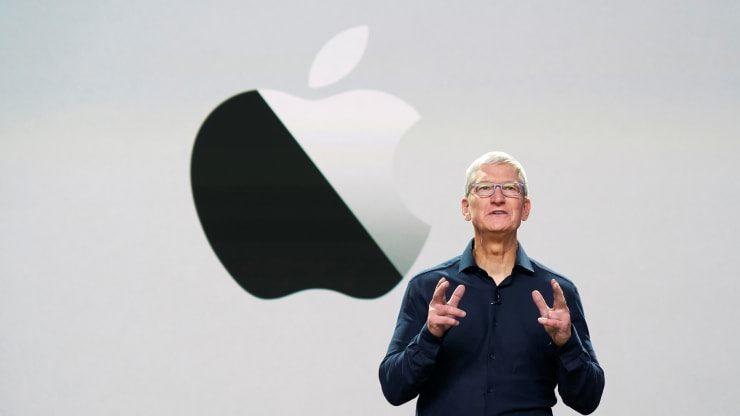 CEO của Apple, Tim Cook tại hội nghị Các nhà Phát triển Toàn của của Apple tại rạp hát Steve Job, Cupertino, California, Nguồn: Brooks Kraft/Apple Inc
