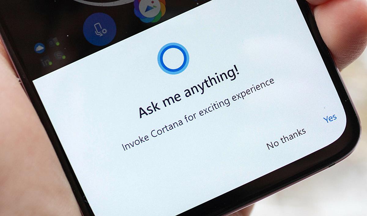 Ứng dụng Cortana không còn xuất hiện trên smartphone. Ảnh: mobilesyrup