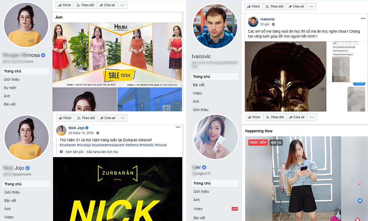 Nhiều tài khoản Facebook có tick xanh của người nổi tiếng nước ngoài bị người Việt kiểm soát và thoải mái đăng bài viết bán hàng.