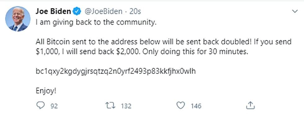 Hacker lừa đảo người dùng gửi Bitcoin thông qua hàng chục tài khoản Twitter của người nổi tiếng.
