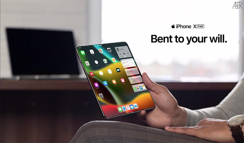 Hình dung về smartphone gập của Apple. Ảnh: ConceptiPhone.