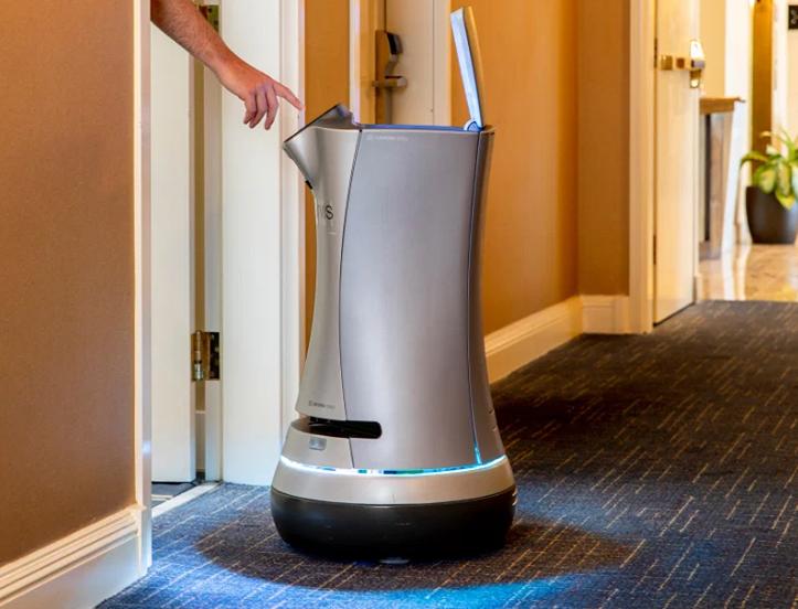 Robot quản gia Jarvis đang được sử dụng tại khách sạn Grand Hotel, California. Ảnh: Time.