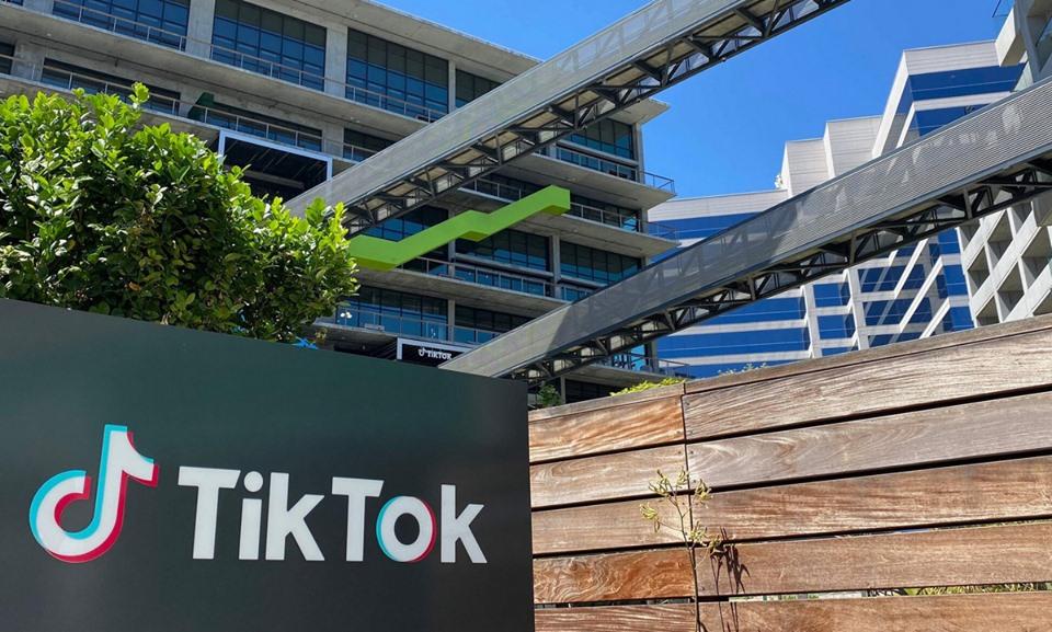 Trụ sở Tiktok tại bang California, Mỹ. Ảnh: AFP.