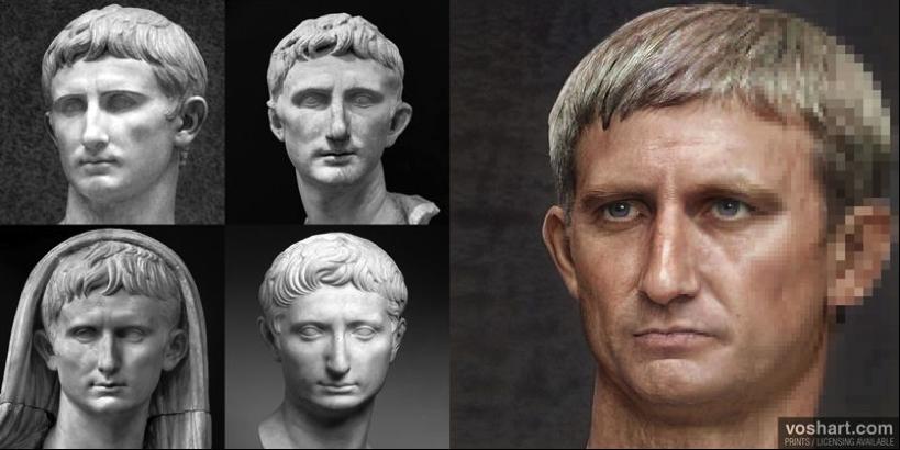 Vua Augustus có một vài nét giống Daniel Craig.