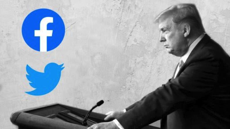 Facebook và Twitter có quan điểm khác nhau về tổng thống Trump trên nền tảng của mình. Ảnh: WSJ.