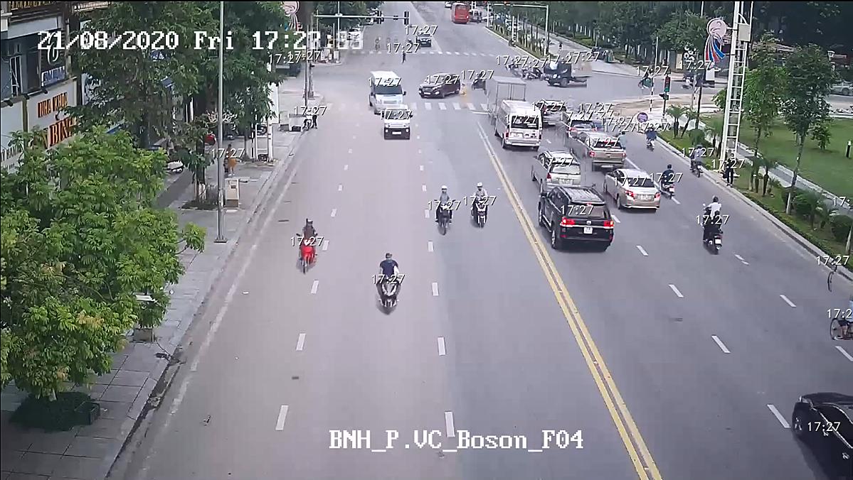 Hình ảnh từ camera giám sát của TP Bắc Ninh giúp phục vụ công tác điều tra. Ảnh: Sở TT&TT Bắc Ninh