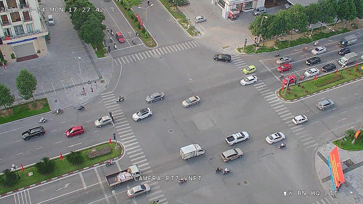 Hình ảnh từ trên cao do camera giám sát của thành phố Bắc Ninh ghi lại. Ảnh: Sở TT&TT Bắc Ninh