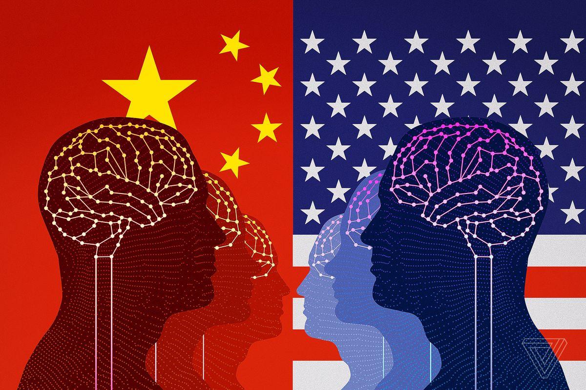 Mỹ và Trung Quốc đanh chạy đua về AI. Ảnh: The Verge.