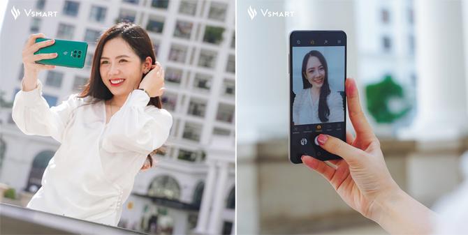 Vsmart Aris Pro có camera ẩn dưới màn hình.