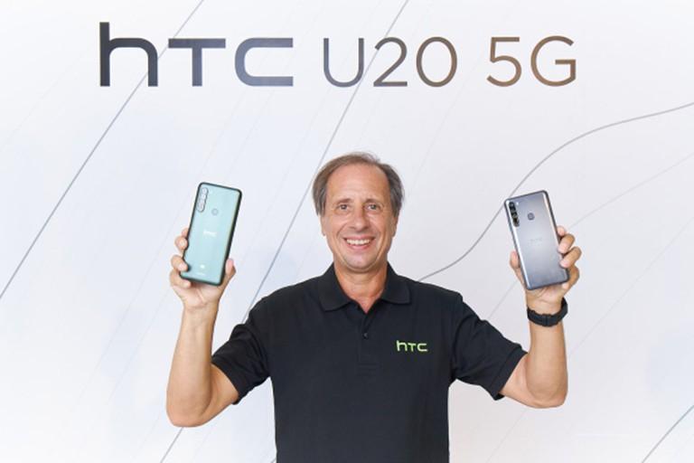 Maitre trong đợt ra mắt HTC U20 5G hồi tháng 6. Ảnh: HTC.