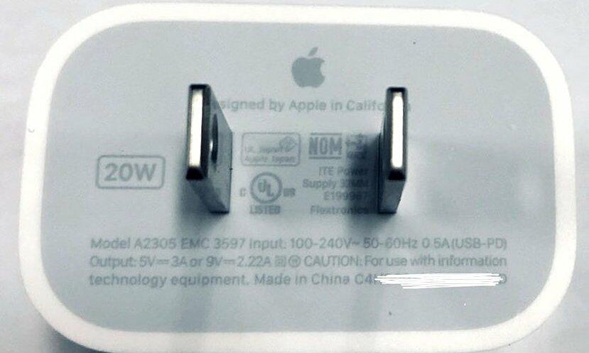 Sạc 20W mới của Apple. Ảnh: Mrwhite