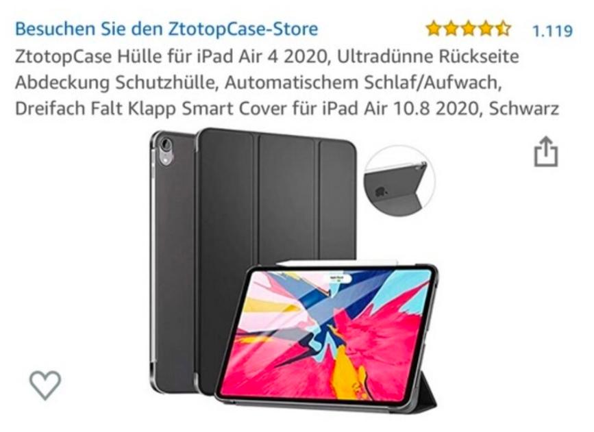 Thông tin về bao da của iPad Air 4 do ZtotopCase đăng tải.