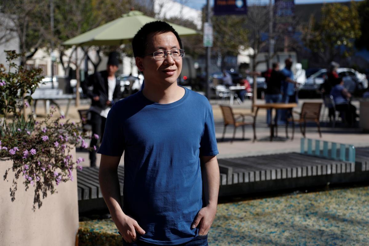 Zhang Yiming, nhà sáng lập kiêm CEO of ByteDance, tại Palo Alto, California ngày 4/3. Ảnh: Reuters.