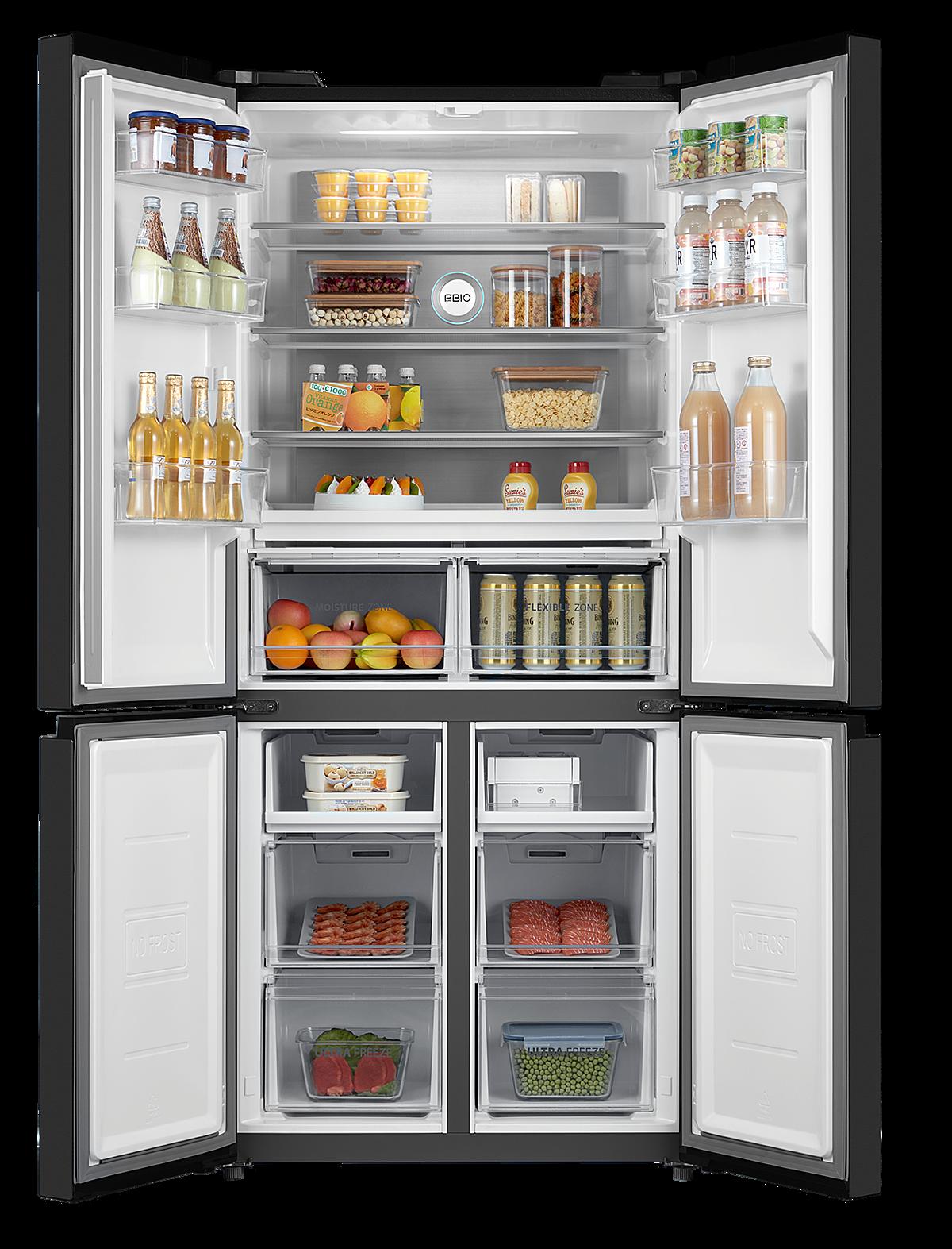 Tủ lạnh multi-door RF610WE bốn cửa. Ảnh: Toshiba.