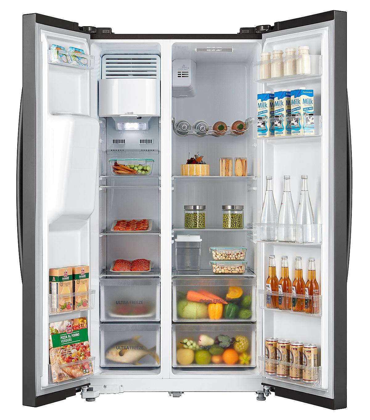 Tủ lạnh side-by-side RS637WE của Toshiba. Ảnh: Toshiba.