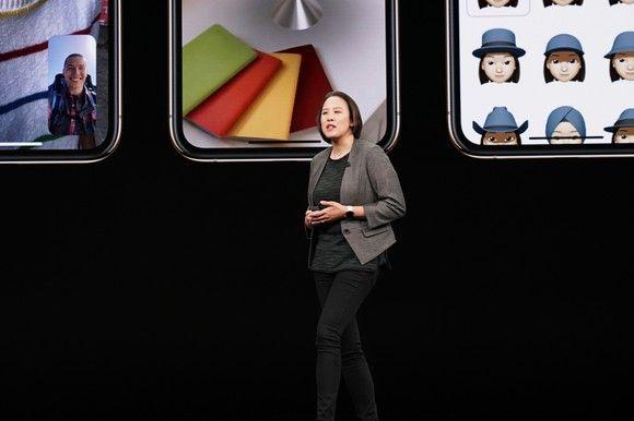 Kaiann Drance trong lễ công bố iPhone 2018. Ảnh: Apple.