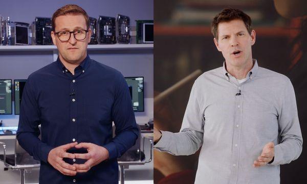 Jon Andrews (trái) và Sebastien Marineau-Mes. Ảnh : Apple.