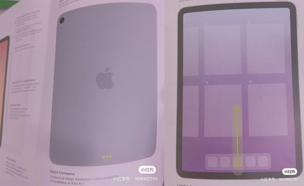 Ảnh được cho là chụp từ sách hướng dẫn iPad Air mới. Ảnh: DuanRui.
