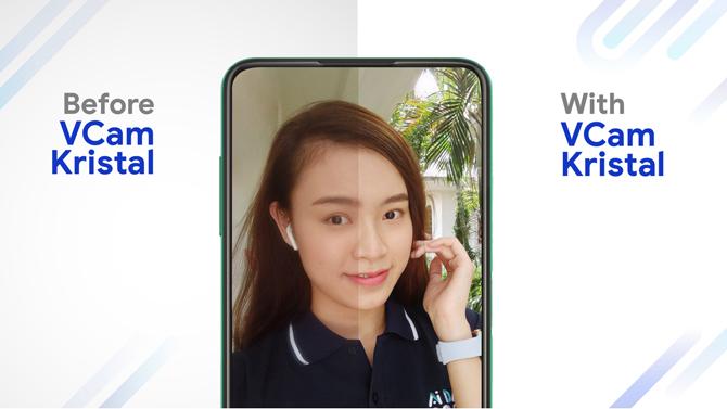 VCam Kristal giúp xử lý hình ảnh cho điện thoại có camera ẩn dưới màn hình.