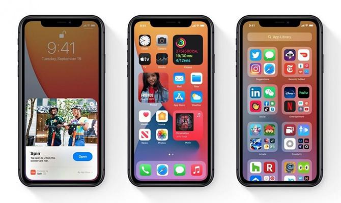 iOS 14 với các tính năng mới khá giống Android.