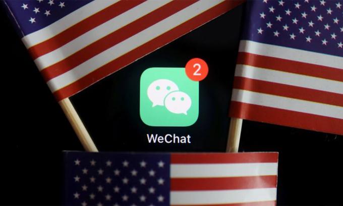 WeChat đối mặt nguy cơ bị cấm tại Mỹ. Ảnh: Reuters.