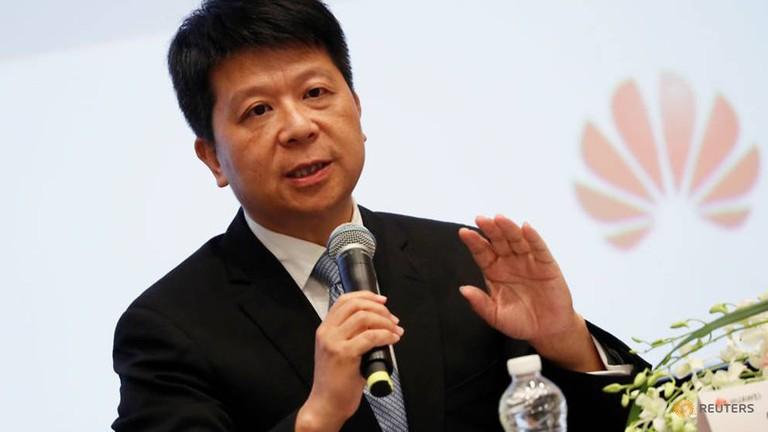 Guo Ping, chủ tịch luôn phiên của Huawei. Ảnh: Reuters.