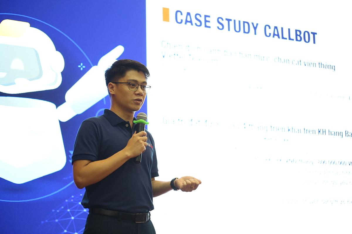 Ông Phạm Quang Vinh, đại diện đơn vị phát triển Cyberbot.