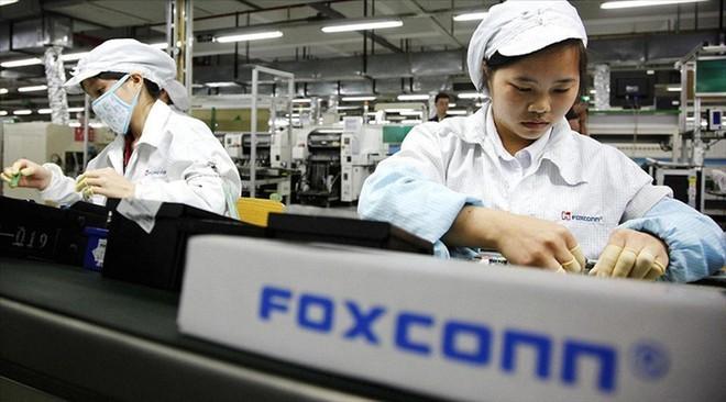 Công nhân nhà máy Foxconn. Ảnh: AFP.