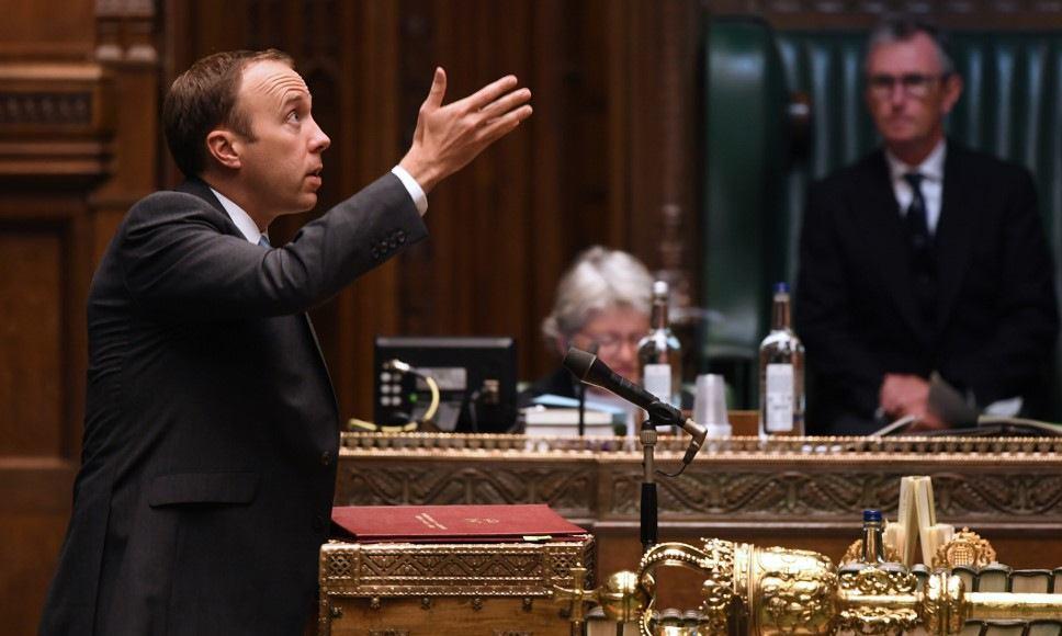 Bộ trưởng Hancock phát biểu trước Hạ viện Anh hôm 5/10. Ảnh: AFP.