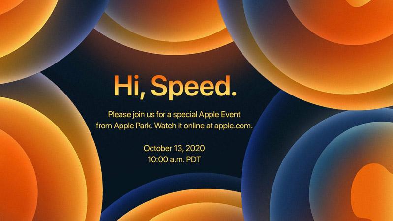 Apple gửi đi thư mời về sự kiện ngày 13/10 với thông điệp Hi, Speed khiến nhiều người liên tưởng đến kết nối 5G, màn hình 120 Hz hoặc công nghệ sạc nhanh không dây mới.