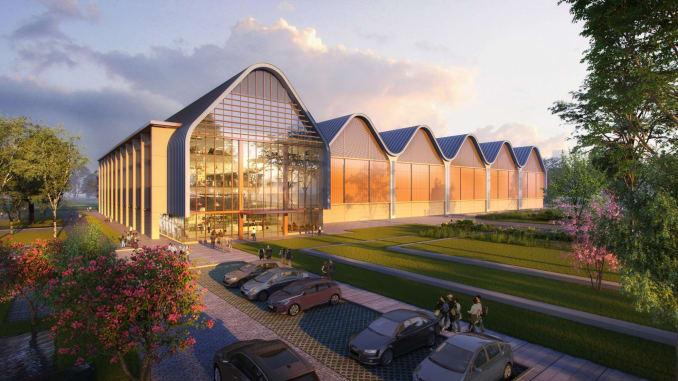 Phác thảo trung tâm R&D của Huawei tại Anh. Ảnh: Huawei.