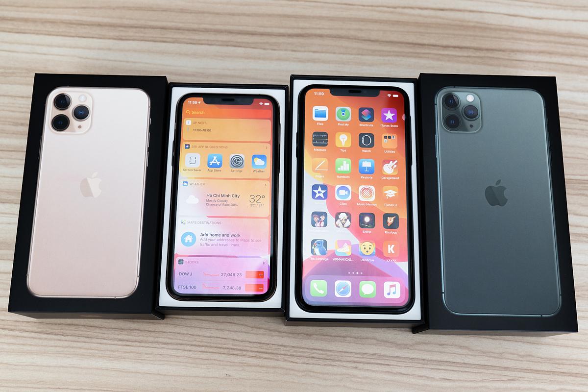 iPhone 11 Pro Max bán chạy tại Việt Nam, trước khi bị thay thế bởi iPhone 12. Ảnh: Huy Đức