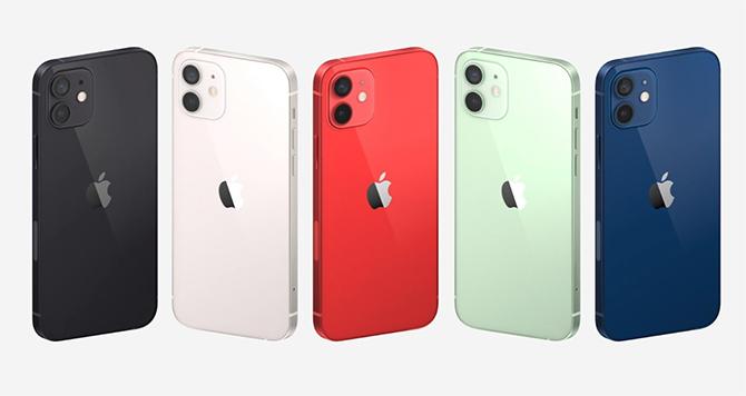 iPhone 12 có 5 màu, chuyển sang dùng màn hình OLED.