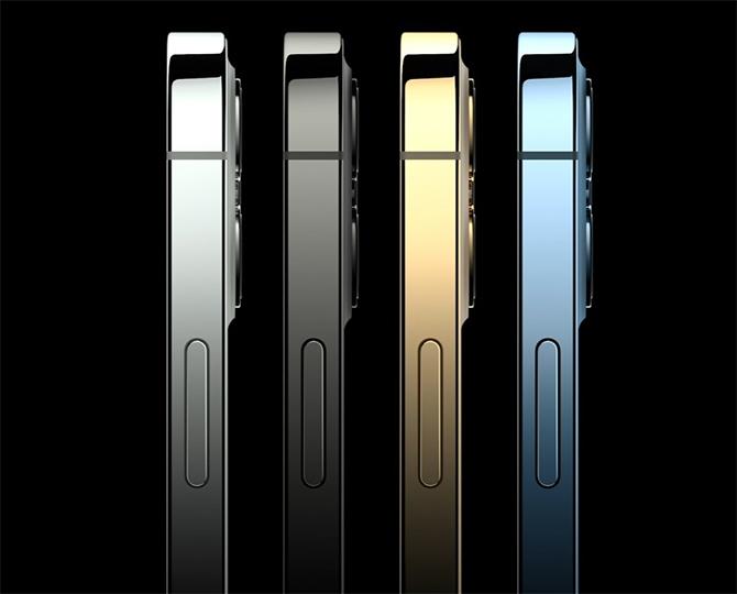 iPhone 12 Pro với 4 màu sắc.