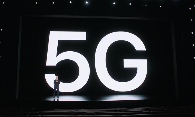 Apple lần đầu công bố iPhone tích hợp 5G. Ảnh: Apple.