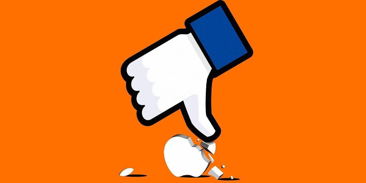 Facebook đang liên tục tấn công Apple. Ảnh: Telegraph.