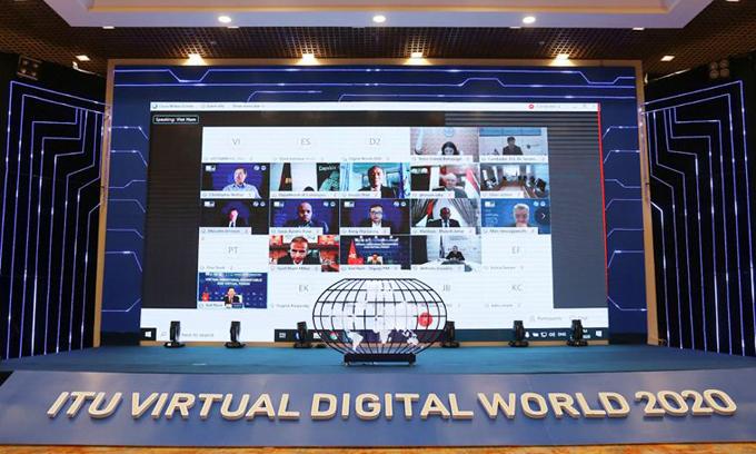 Sự kiện ITU Digital World diễn ra theo hình thức trực tuyến.