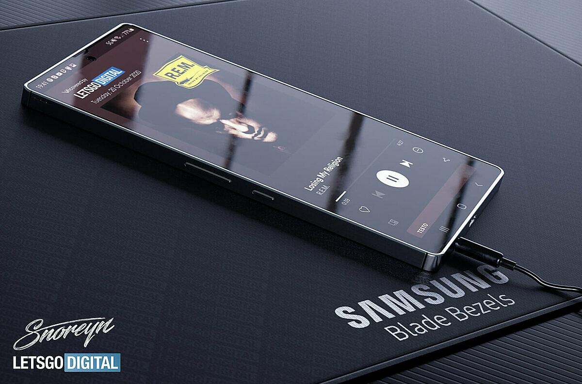 Samsung Galaxy S21 có thể dùng khung thép vuông vức như iPhone 12. Ảnh: LetsGoDigital.