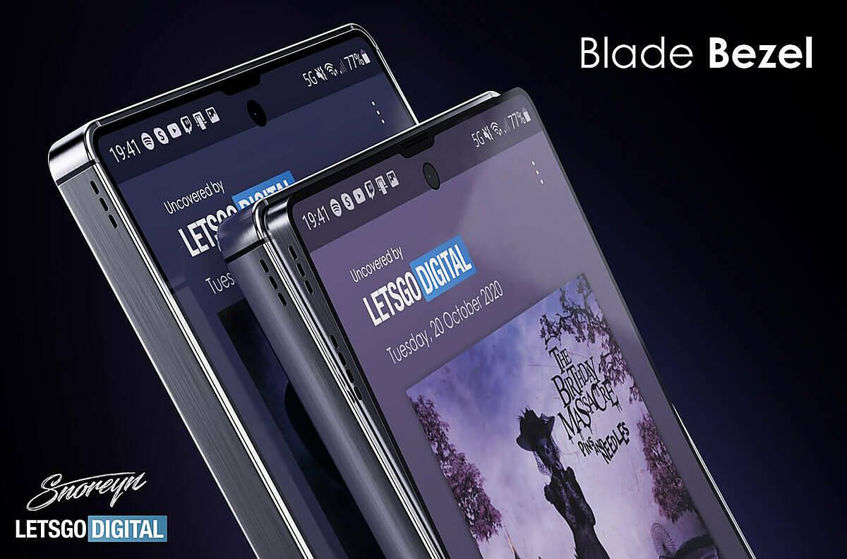 Thiết kế Blade Bezel với khung hình vuông vức, màn hình phẳng được cho là của Samsung Galaxy S21. Ảnh: LetsGoDigital.