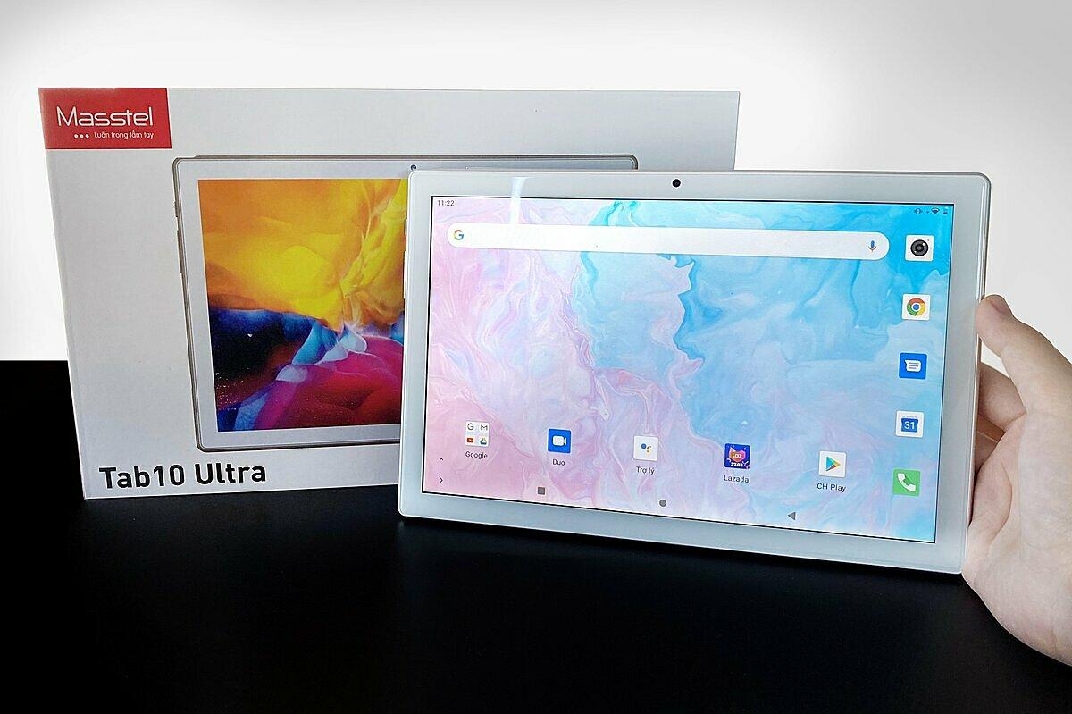 Tab10 Ultra có giá 3,49 triệu đồng với cấu hình ổn, thời lương pin lâu và sử dụng hệ điều hành Android 10. Việt Masstel.