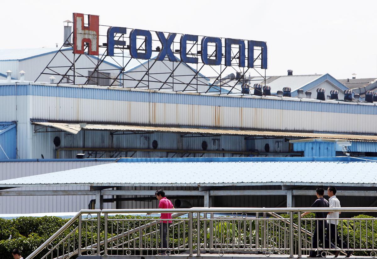 Một nhà máy sản xuất iPhone của Foxconn. Ảnh: Bloomberg.