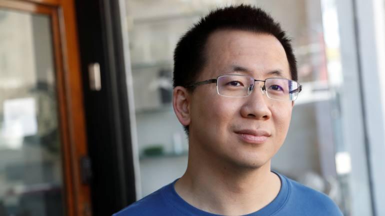 Zhag Yiming, CEO ByteDance. Ảnh: Reuters.