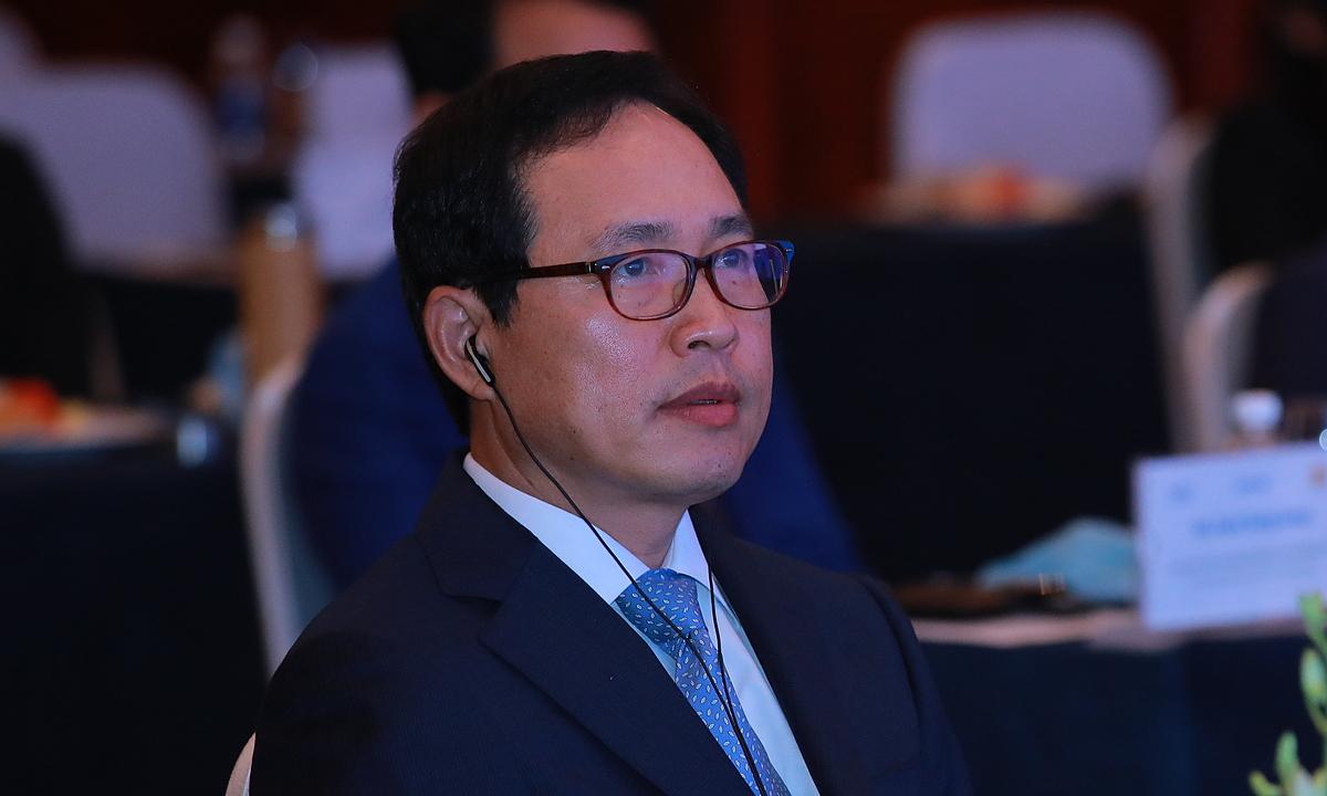 Ông Choi Joo Ho, Tổng Giám đốc Tổ hợp Samsung Việt Nam tại diễn đàn đa phương Samsung 2020. Ảnh: SamsungVN