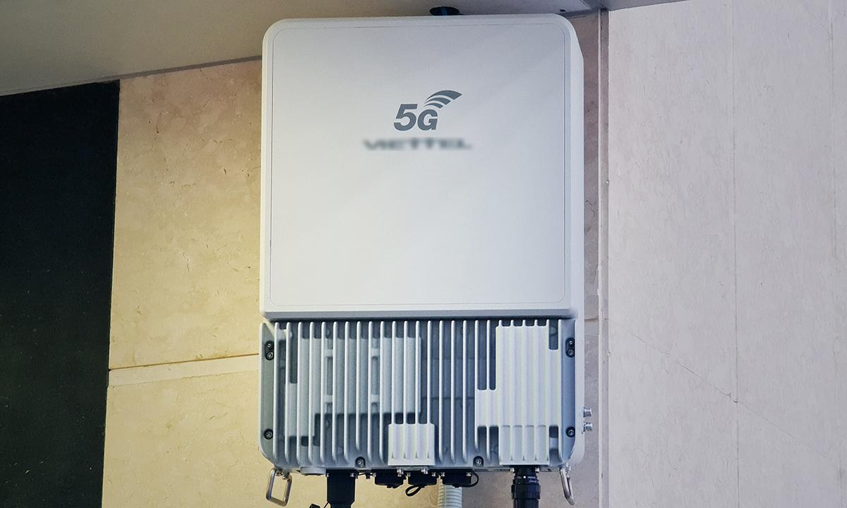 Một thiết bị 5G đang được thử nghiệm tại Hà Nội.