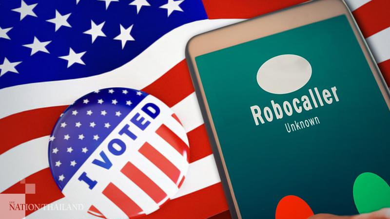 Các cuộc gọi robot tăng cao vào ngày bầu cử Mỹ 3/11. Ảnh: NationThailand.