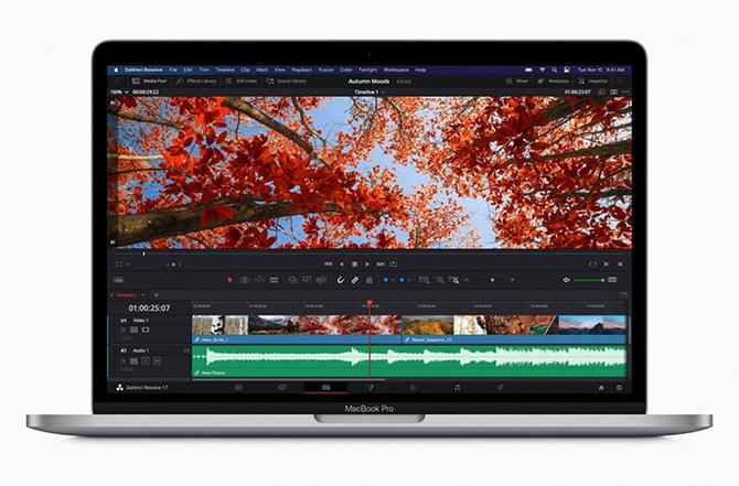 MacBook Pro 13 dùng chip M1 không có khác biệt về kiểu dáng.