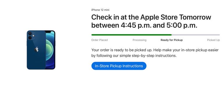 Người dùng đã đặt trước iPhone 12 mini nhận thông báo từ Apple.