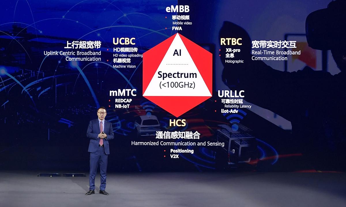 Ông David Wang mô tả 6 kịch bản của 5.5G. Ảnh: Huawei.